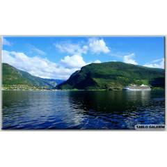 100X70 KANVAS TABLO SCENERY NORWAY MOUNTAİNS SOG