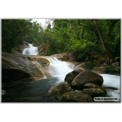 100X70 KANVAS TABLO WATERFALLS AUSTRAL�A STONES