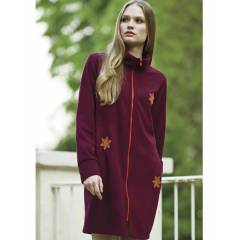 PENYE MOOD BORDO LAC�VERT UZUN POLAR SWEATSHIRT