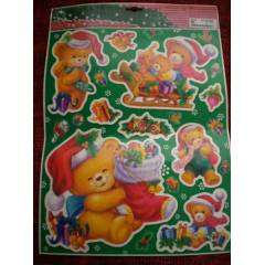 B�Y�K BOY CAM STICKER NOEL  WINDOW DECORATION