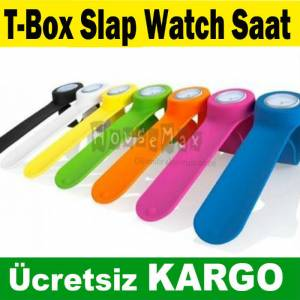 T-Box Slap Watch Saat 7 renk se�ene�i KAMPANYA