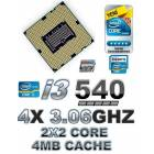 �NTEL CORE �3 540 3.06GHZ 4MB CACHE LGA1156 CPU