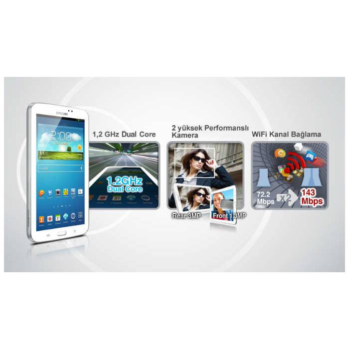 SAMSUNG Galaxy Tab 3 SM-T210 7'' Tablet Pc-Beyaz