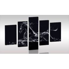 BLACK HORSE 5 Par�al� Canvas Tablo