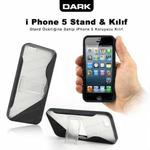Dark iPhone 5 Stand ve Koruyucu K�l�f �effaf