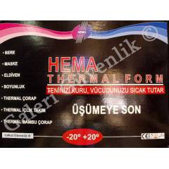 HEMA THERMAL 8'li SET -20 +20 Siyah