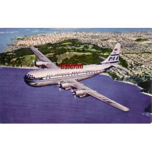 PAA AMERICAN WORLD AIRWAYS KARTPOSTAL...........