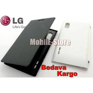 LG Optimus L5 E612 Slim Yan Flip Cover+3xFilm