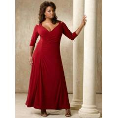 MANGOL�NO DRESS MDBS6153 Abiye elbise Bordo