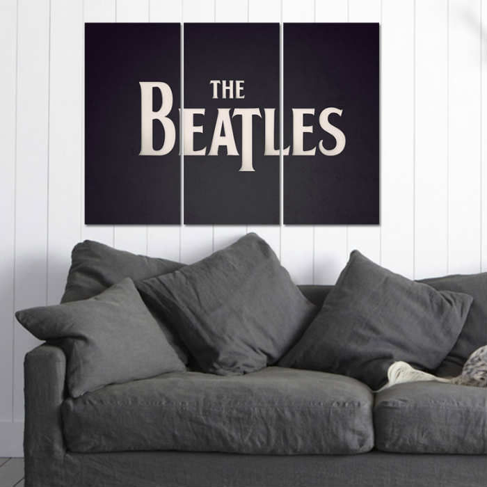3 PAR�ALI KANVAS TABLO 99X70cm THE BEATLES 3