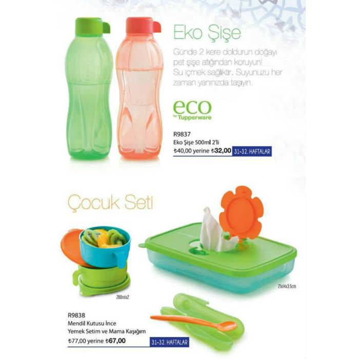 TUPPERWARE 2'L� EKO ���E SET