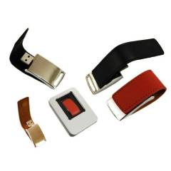 Kutulu Metal Derili USB Flash Bellek 4GB #BU38