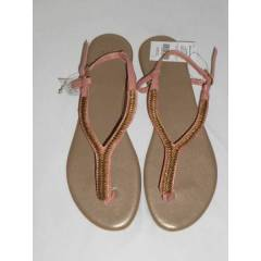 Marks and Spencer Pembe Deri Sandalet-41 No
