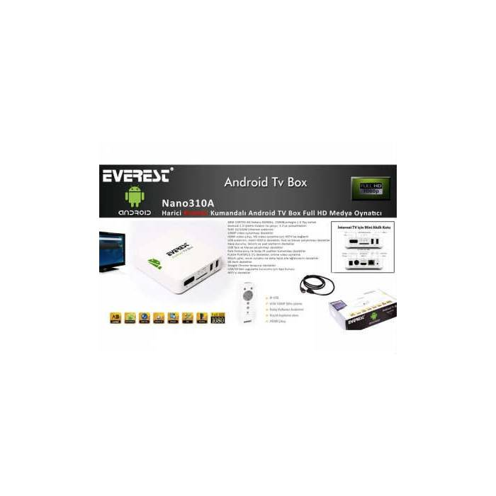 Everest Nano310A Android Tv Box Full HD Player