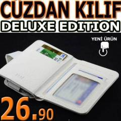 APPLE iPHONE 5s DELUXE C�ZDAN KILIF DER� BEYAZ