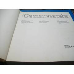 *ORNAMENTE (A SOURCE BOOK WITH 1000 ILLUSTRATION