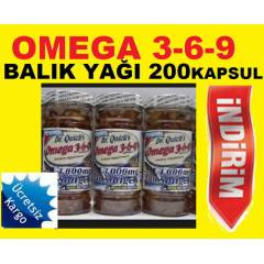 Dr. Quick's Omega 3-6-9 1000 mg. 200 Soft Jel