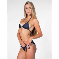 AMERICAN APPAREL Faux Denim Side-Tie Bikini Btm