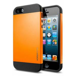SP�GEN iPhone 5S Case Slim Armor Tangerine Tongo