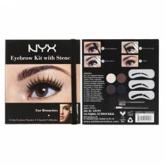 NYX EYEBROW KIT WITH STENCIL FOR EVERYONE