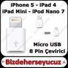 iPhone 5 Usb �evirici Adapt�r (8 Pin to Micro)