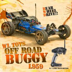 WL L959 Off Road Buggy 2.4ghz profesyonel araba