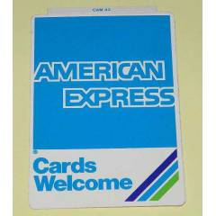 AMERICAN EXPRESS STICKER
