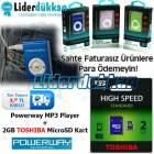 MP3 Player Mp3 �alar + 2GB Toshiba SD Mini M�zik