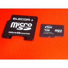 1gb mini sd haf�za kart� ve adapt�r�+micro sd