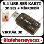 USB Ses Kart� 5.1 Virtual Sound 3D Win 7 Win8