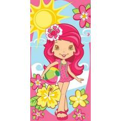 Ta� Lisansl� Plaj Havlusu STRAWBERRY SHORTCAKE