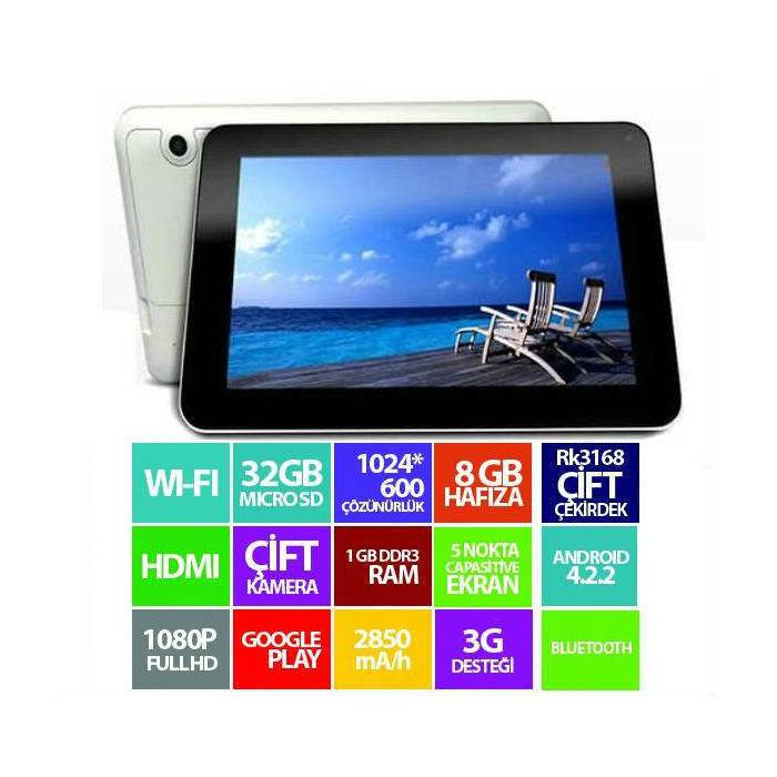 Excon M80T- 7'' �ift Kamera HD Ekran Tablet Pc