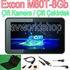 Excon M80T 7'' Tablet Pc 2 Kamera+Klavye+Hdmi