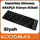NOTEBOOK LAPTOP KLAVYE ET�KET� ARAP�A S�YAH