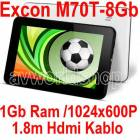 "ExconM70t-8Gb 7"" Tablet Pc �ift Kamera Hdmi Kab"