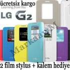 LG G2 Uyku Modlu Flip Cover K�l�f QUICK WINDOW