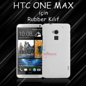 HTC ONE MAXX RUBBER KILIF+ 3X Film