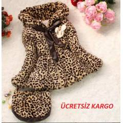 LEOPAR KABAN VE �ANTA SET
