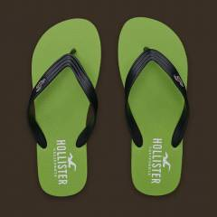 Hollister Co. Terlik - Classic Surf Flip Green