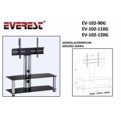 Everest EV-102-90G 90cm G�m�� Lcd Tv Sehpas�