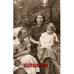 1935 ANNE �OCUK VE YABANCI HEM��RE FOTO�RAFI....