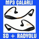Sports Kablosuz Kulakl�k Mp3 Player Fm Radyo
