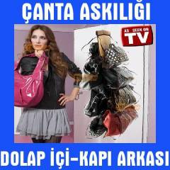 Dolap �anta Ask�s� Kap� Arkas� �anta Ask�l���