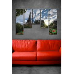 150X100CM B�Y�K BOY 5 PAR�ALI CANVAS TABLO D0075
