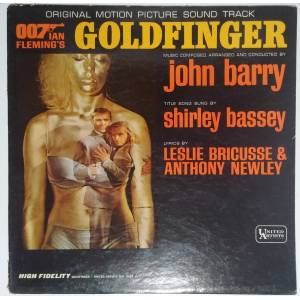 JOHN BARRY GOLDFINGER SOUNDTRACK LP PLAK