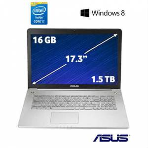 Asus N750JK-T4109H Intel Core i7 4700HQ 2.4GHz / 3.4GHz 16GB 1.5TB + 256GB SSD 17.3