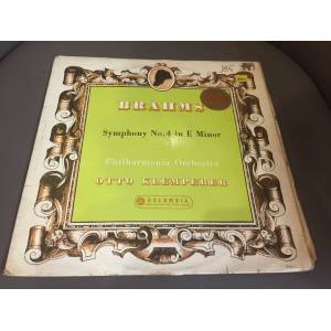 BRAHMS - OTTO KLEMPERER - SYMPHONIE NR.4 IN E MINOR LP 1958