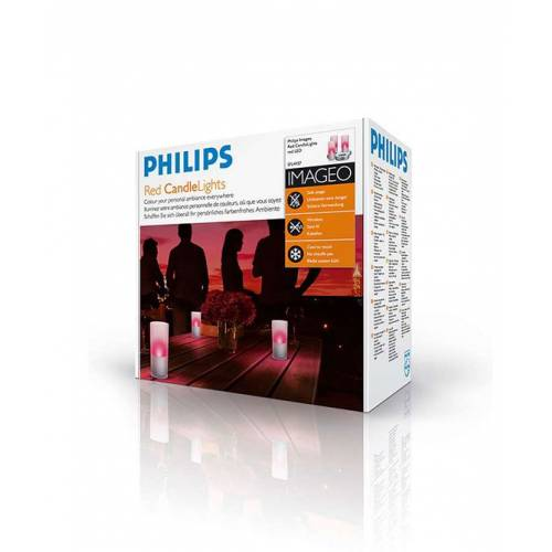 Philips Candlelights Kırmızı 3 Set - 6910832PH
