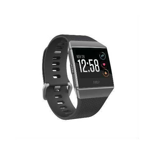 Fitbit Ionic Smartwatch, Charcoal/Smoke Gray, One Size (S & L Ban 311078415