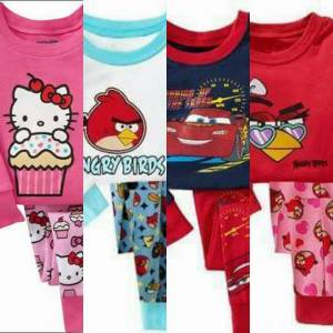 HELLO KITTY-ANGRY BIRDS-ŞİMŞEK MCQUEEN PİJAMALAR